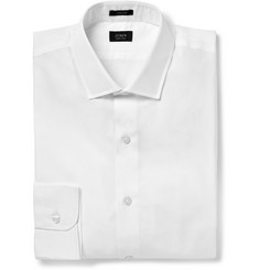 J.Crew White Ludlow Cotton-Poplin Shirt
