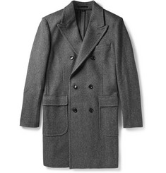 J.Crew Carpini Double-Breasted Wool-Blend Overcoat