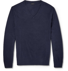 J.Crew Cotton-Cashmere Knitted Sweater