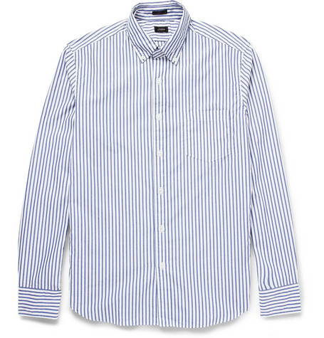 J.Crew Regular-Fit Striped Washed Cotton Shirt