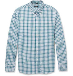 J.Crew Check Washed-Cotton Button-Down Collar Shirt