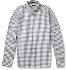 J.Crew Button-Down Collar Gingham Cotton Shirt