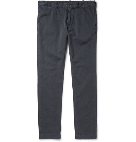 J.Crew 484 Slim-Fit Washed Cotton-Twill Chinos