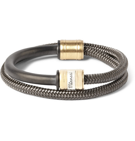 Miansai Woven Cord and Metal Wrap-Bracelet