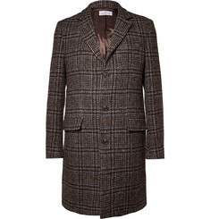 Hentsch Man Prince of Wales Check Wool Overcoat