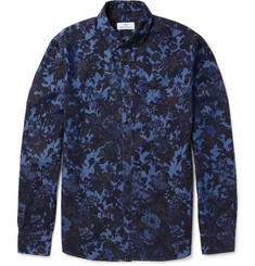 Hentsch Man Sunday Floral-Print Cotton-Chambray Shirt