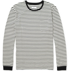 Hentsch Man Striped Long-Sleeved Cotton-Jersey T-Shirt