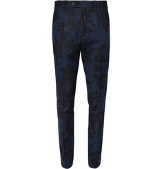 Hentsch Man Slim-Fit Printed Wool-Blend Trousers