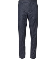 Hentsch Man Navy Wool-Blend Suit Trousers