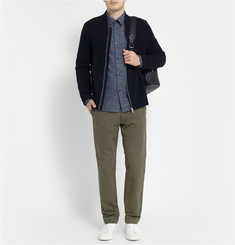 A.P.C. Flecked Cotton and Wool-Blend Flannel Shirt