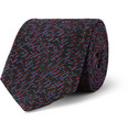 Marwood - Patterned Silk and Wool-Blend Tie
