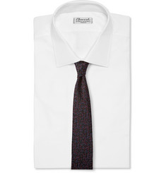 Marwood Patterned Silk and Wool-Blend Tie