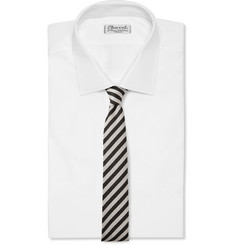 Marwood Striped Wool and Cotton-Blend Tie