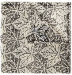 Marwood Leaf-Print Cotton-Lace Pocket Square