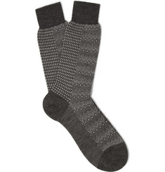 Marwood Pantherella Patterned Merino Wool-Blend Socks