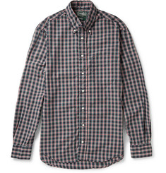 Gitman Vintage Button-Down Collar Checked Cotton Oxford Shirt
