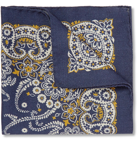 Alex Mill Paisley Wool Pocket Square
