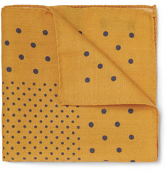 Alex Mill Polka-Dot Wool Pocket Square