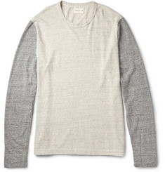 Simon Miller Tulare Contrast-Sleeve Cotton and Silk-Blend T-Shirt