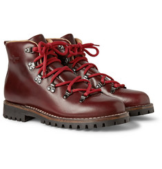 Car Shoe Leather Lace-Up Boots
