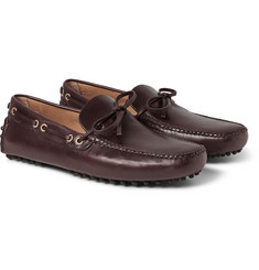 Car Shoe Burnished Cordovan-Leather Driving Shoes