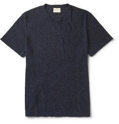 Simon Miller Garçon Indigo-Dyed Slub Cotton and Silk-Blend T-Shirt