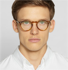 Oliver Peoples Gregory Peck Tortoiseshell Round-Frame Optical Glasses