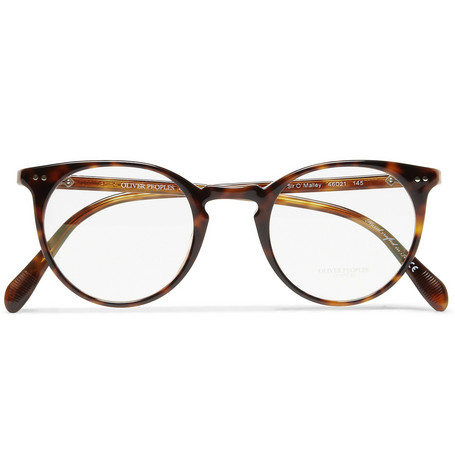 Oliver Peoples Sir O'Malley Round-Framed Acetate Glasses