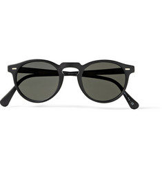 Oliver Peoples Gregory Peck Matte-Acetate Round-Frame Polarised Sunglasses