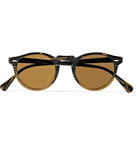 Oliver Peoples Gregory Peck Round-Frame Acetate Sunglasses