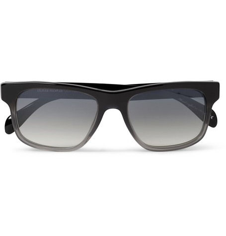 Oliver Peoples Becket Photochromic Square-Frame Acetate Sunglasses
