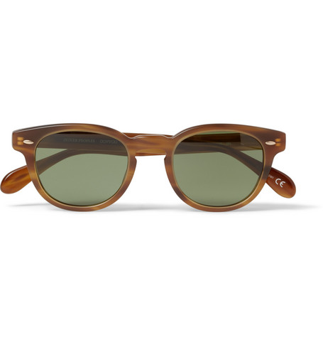 Oliver Peoples Sheldrake Square-Frame Acetate Sunglasses