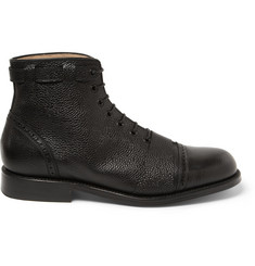 Grenson Foot The Coacher Pebble-Grain Leather Boots
