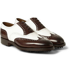 Edward Green Malvern Two-Tone Leather Golf Brogues