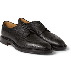 Edward Green Ulswater Textured-Leather Brogues
