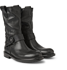 Jimmy Choo Paddox Textured-Leather Biker Boots