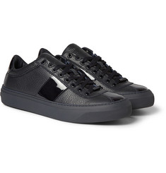 Jimmy Choo Portman Full-Grain and Patent-Leather Sneakers