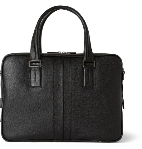 Tod's Cross-Grain Leather Briefcase