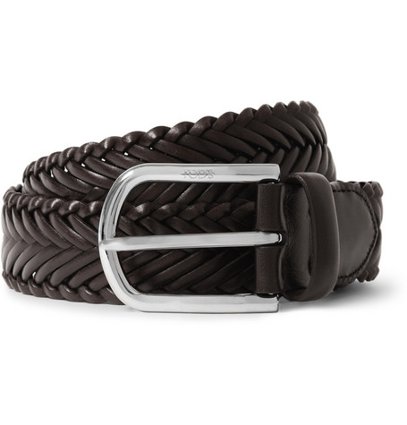 Tod's Brown 3.5cm Woven-Leather Belt