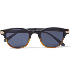 Eyevan 7285 308 Round-Frame Two-Tone Acetate Sunglasses