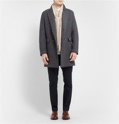 Barena Double-Breasted Knitted Wool-Blend Coat
