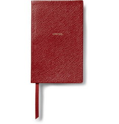 Smythson Gold-Embossed Cross-Grain Leather Panama Notebook