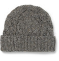 Oliver Spencer - Wool-Blend Cable-Knit Beanie Hat