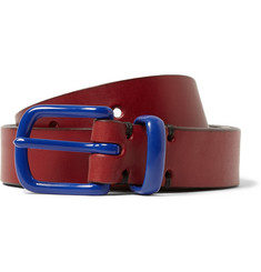 Oliver Spencer Burgundy 3cm Leather Belt