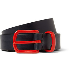 Oliver Spencer Navy 3cm Leather Belt