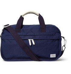 Porter-Yoshida & Co Beat Leather-Trimmed Canvas Boston Bag