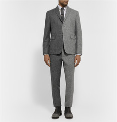 Thom Browne Grey Slim-Fit Herringbone Wool-Tweed Suit Trousers