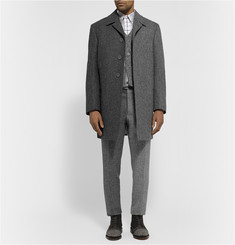 Thom Browne Herringbone Wool-Tweed Overcoat