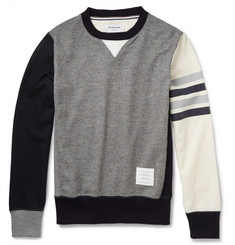 Thom Browne Colour-Block Wool-Jersey Sweatshirt