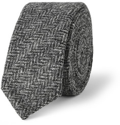Thom Browne Slim Herringbone Wool-Tweed Tie